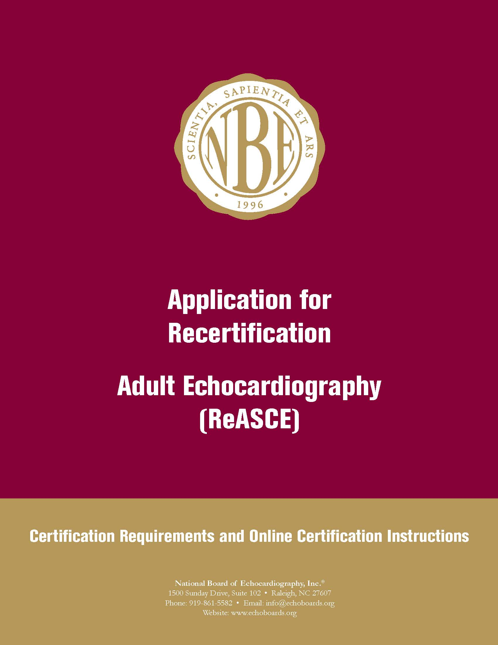 Certification Requirement Handbooks